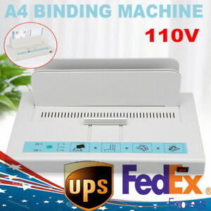 Electric Hot Melt Glue Binding Machine Book Binder 50mm For A4 Paper 110v