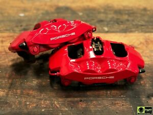 Porsche Cayman S Boxster S 981 Red Calipers Oem Brembo 98135105304 98135105404