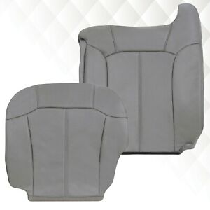 1999 2002 Chevy Silverado Tahoe Suburban Synthetic Leather Seat Covers In Gray