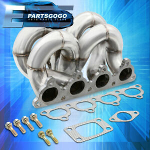 For 88 00 Honda Civic Performance Stainless Steel T3 T4 Turbo Manifold D Series