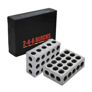 New 1 Matched Pair 2 4 6 Blocks 23 Holes 0002 Machinist 246 Jig