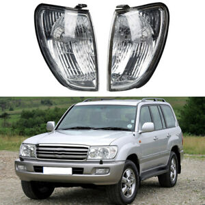 Fit Toyota Land Cruiser 100 Series 1998 2005 2004 Front Pair Corner Lights Lamps