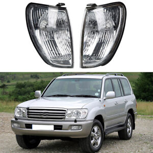 For Toyota Land Cruiser 100 Series 1998 2005 2004 Front Pair Corner Lights Lamps