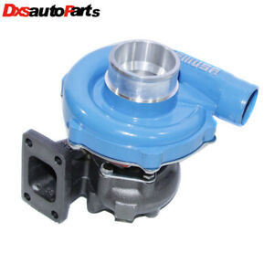 New Blue T3 t4 Hybrid Turbo Charger 50 A r Compressor 0 63 A r Turbine Wheel