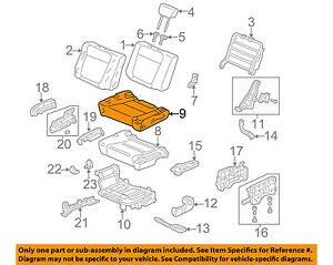 Honda Oem 03 06 Element Rear Seat Cushion Cover Right 82131scva01za