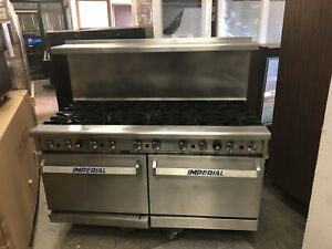 Used Imperial Ir 10 Natural Gas 10 Burners Range Stove W Two Standard Ovens