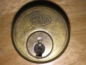 1 Antique Vintage Corbin Used Cylinder Lock No Key