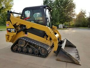 2015 Cat 257d Track Skid Steer Loader W Bucket Cab Heat Camera Caterpillar 257 d