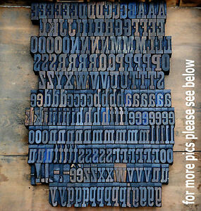 Letterpress Wood Printing Blocks 191 Pcs 1 18 Tall Alphabet Type Woodtype Abc