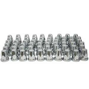 Brand New 60 Chrome Abs Threaded Lug Nut Covers With Flange 33mm And 32mm