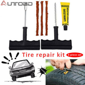Auto Car Tubeless Tyre Puncture Plug Tire Motorcycle Bike Cement Repair Tool Kit