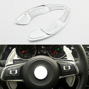 Chrome Steering Wheel Shift Paddle Shifter Trim For Vw Golf7 R Gti Polo Scirocco