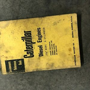 Cat Caterpillar Diesel Engine Servicemen s Reference Book Manual 4 Cyl 5 3 4 D