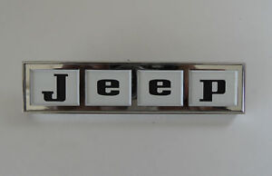 Jeepster Jeep Commando Jeep Tailgate Emblem Black Letters New
