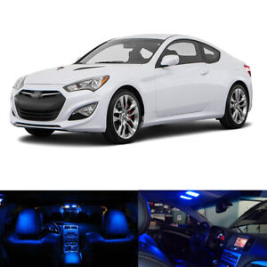 6 X Blue Led Interior Package License Plate Lights For 2010 2016 Genesis Coupe