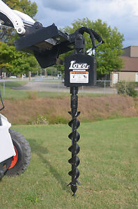 Bobcat Skid Steer Attachment Lowe 750 Round Auger Drive With 4 Bit Ship 199