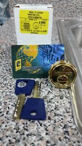 Mul t lock Garrison Mortise High Security Cylinder 1 brass Us 3 New