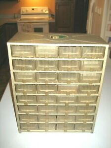 Vintage Haz Bin Junior Storage Bin 32 Drawer Parts Organizer Cabinet Industrial