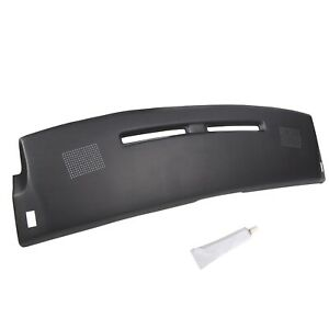 Black Carpet Dash Board Cover Pad Overlay For 1984 1992 Chevy Camaro