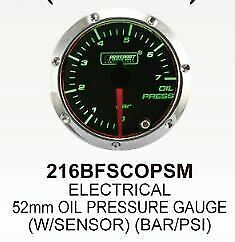 Prosport 7 Color Led 52mm Smoke Oil Pressure Gauge Psi