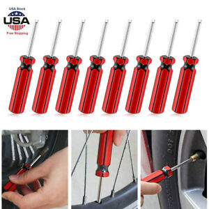 8pc Car Auto Screwdriver Valve Stem Core Remover Tire Tube Installer Repair Tool