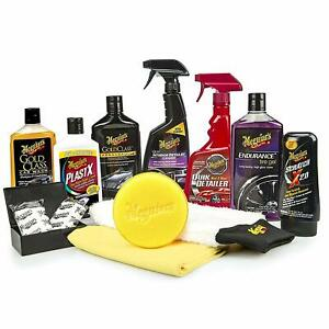 Meguiar S Complete Car Care Kit Professional Detail Auto Waxing Cleaning Kit New