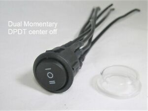 Double Momentary Round Rocker Switch Dpdt Center Off 22mm 12v Dual on off on