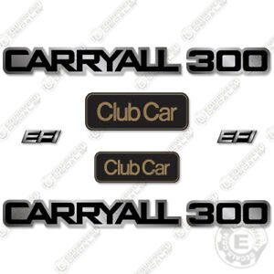 Clubcar Carryall 300 Decal Kit Golf Cart Utility Vehicle Replacement Decals