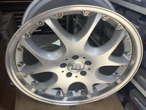 Newbrabus Mono V 2pc 9 5 X20 Et 45 5 112 Silver One Wheel Only Made In Ger