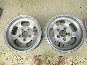14x7 Ansen Sprint Racing Rims Vintage Set 2 Pair 5 Lug X 4 75 Chevy Uni Lug Ford