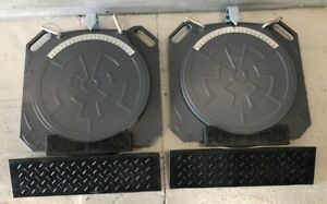 10 Ton Aluminum Wheel Alignment Turn Plates Turntables Plates Turntables W Ramps