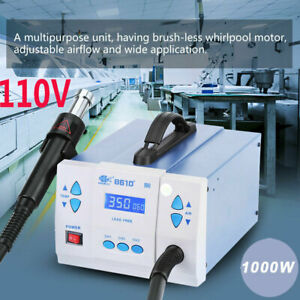 110v 861d quick Soldering 861d 1000w Digital Hot Air Gun Rework Station Machine