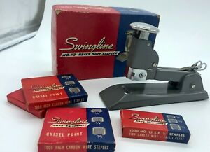 Vintage Swingline Speed Stapler No 13 W Staples Usa Heavy Duty Many Pages