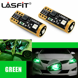 Lasfit 2x 194 168 T10 Led Interior Map Light Bulbs For Gmc Envoy 2004 2009 Green