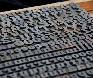Letterpress Wood Printing Blocks 277pcs 0 51 Tall Wooden Type Woodtype Alphabet