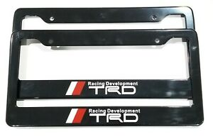 Trd Racing Black Plastic License Plate Frame For Toyota Tundra Tacoma 4runner