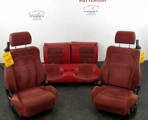 1992 Dodge Stealth Front Back Seats Red X94 Leather Cloth Manual