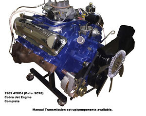 Ford 428cj Cobra Jet Engine Complete