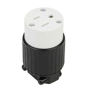Rugged 5 15p Grounding Locking Socket For Generator Socket Nylon Housing
