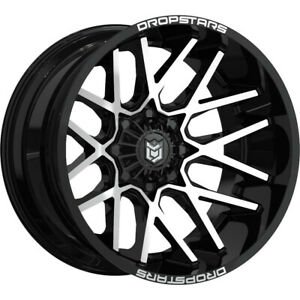 1 New 20x9 Dropstars 654mb Deep Concave Black Wheel Rim 18 6x135