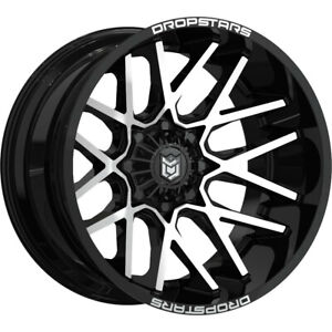 1 New 20x9 Dropstars 654mb Deep Concave Black Wheel Rim 00 5x4 50
