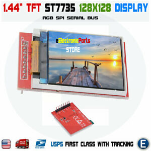 1 44 Lcd Spi 128x128 Color Tft Lcd Display Module St7735 Replace Nokia 5110