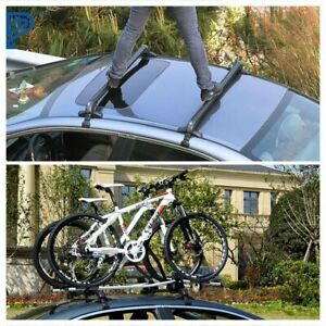 Universal Car Top Luggage Roof Rack Cross Bar Carrier Adjustable Window Frame Us