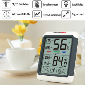 1 3 4 5 Thermopro Digital Lcd Touchscreen Humidity Thermometer Indoor Hygrometer