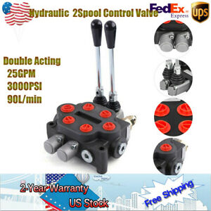 Vehicle 2 Spool Hydraulic Control Valve 25gpm 3000psi Tractors Loaders Pressure