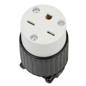 Rugged 6 15p Grounding Locking Socket For Generator Socket Nylon Housing