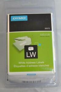 Dymo Labelwriter Address Labels 1 1 8 X 3 1 2 White 260 Labels roll 2 Rolls pack
