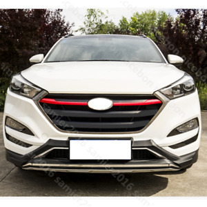 2pcs Red Abs Front Grille Grill Cover Fit For Hyundai Tucson 2016 2017 2018