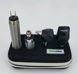 Welch Allyn 3 5v Diagnostic Set Otoscope Ophthalmoscope Plugin Handle Complete