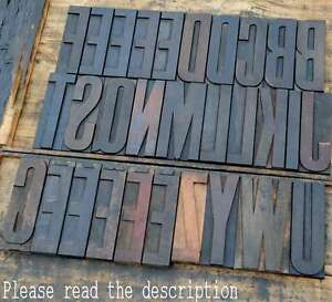 Huge Font Wood Type Characters 8 46 you Choose your Letter Letterpress Abc